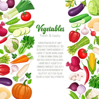 Szablon z warzywami