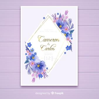 Szablon zaproszenia ślubne