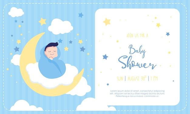 Szablon zaproszenia baby shower dla chłopca