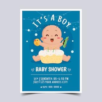 Szablon zaproszenia baby shower