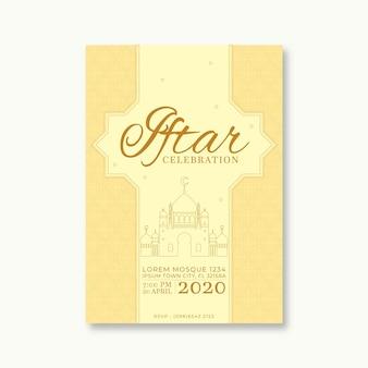 Szablon zaproszenia do iftar