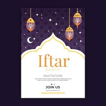 Szablon zaproszenia iftar urządzony