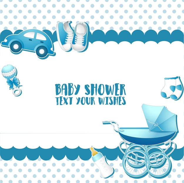 Szablon zaproszenia karty baby shower