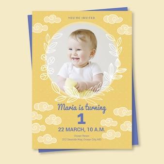 Szablon zaproszenia karty urodziny dla dzieci