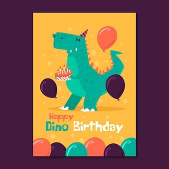 Szablon zaproszenia karty urodziny dzień dziecka