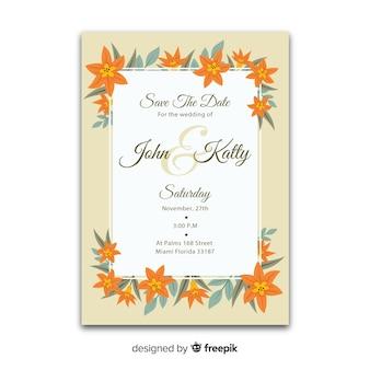 Szablon zaproszenia kolorowy ślub