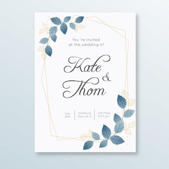 Szablon zaproszenia kwiatowy zaręczyny