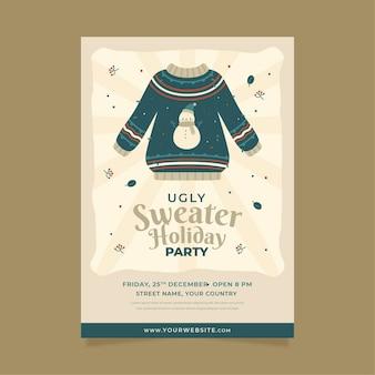 Szablon zaproszenia na przyjęcie brzydki sweter