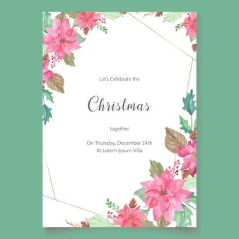 Szablon zaproszenia na przyjęcie świąteczne