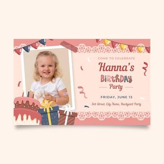 Szablon zaproszenia na przyjęcie urodzinowe