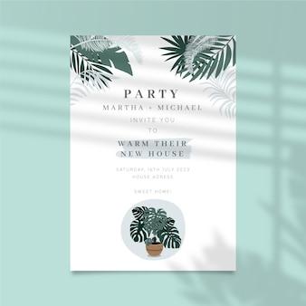 Szablon zaproszenia na przyjęcie