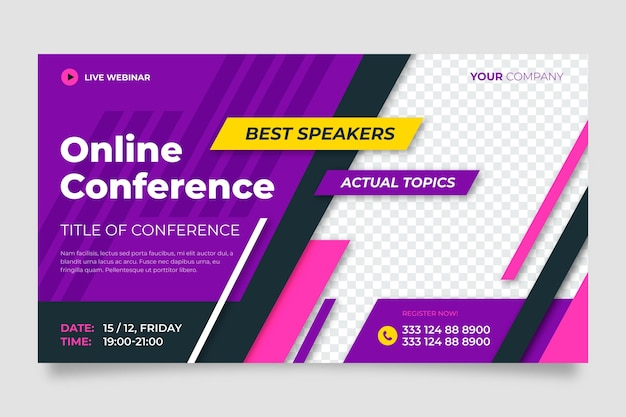 Szablon zaproszenia na seminarium internetowe