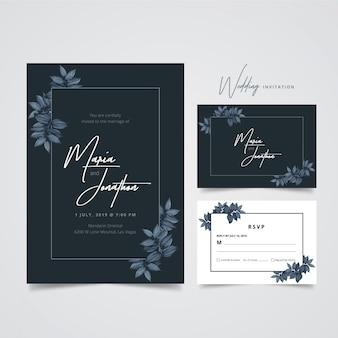 Szablon zaproszenia na ślub