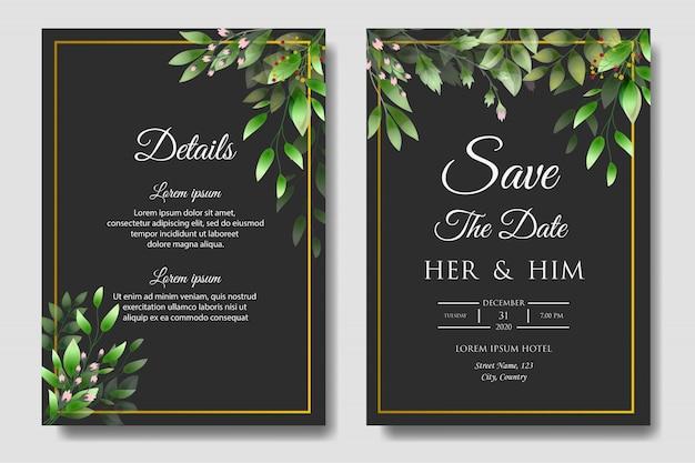 Szablon zaproszenia piękny ślub