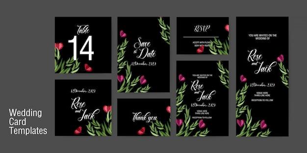 Szablon zaproszenia ślubne karty