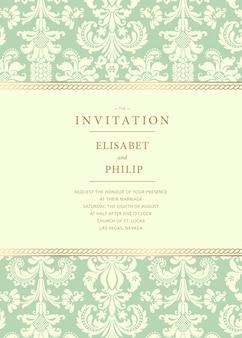 Szablon zaproszenia ślubne vintage