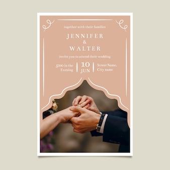 Szablon zaproszenia ślubne z obrazem