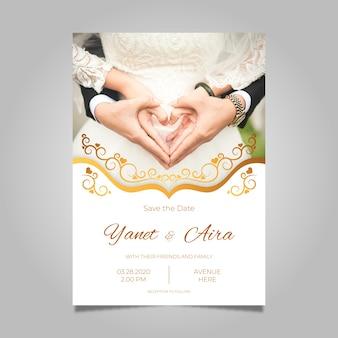 Szablon zaproszenia ślubne z pic