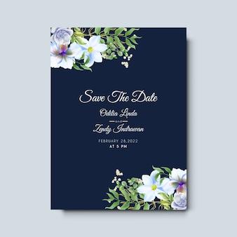Szablon zaproszenia ślubne z ręcznie rysowane piękny i elegancki kwiatowy