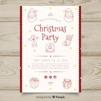 Szablon zaproszenia świąteczne