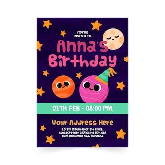 Szablon zaproszenia urodzinowe dla dzieci