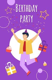 Szablon zaproszenia urodzinowe