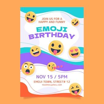Szablon zaproszenia urodzinowego emoji