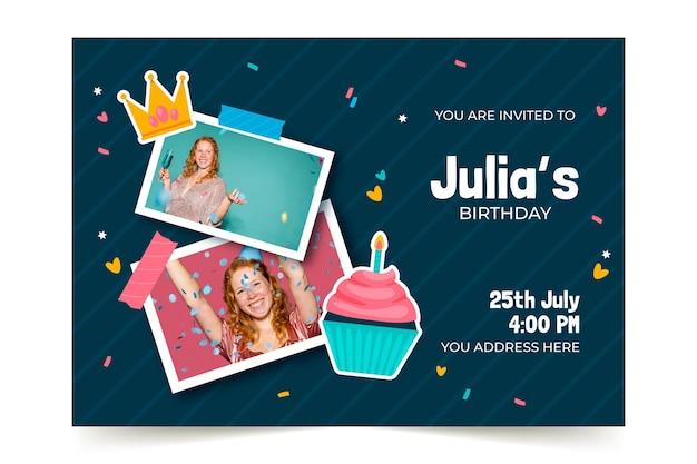 Szablon zaproszenia urodzinowego