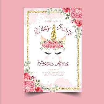 Szablon zaproszenia urodziny
