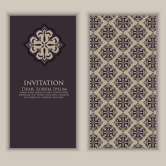 Szablon zaproszenia z arabskimi elementami dekoracyjnymi