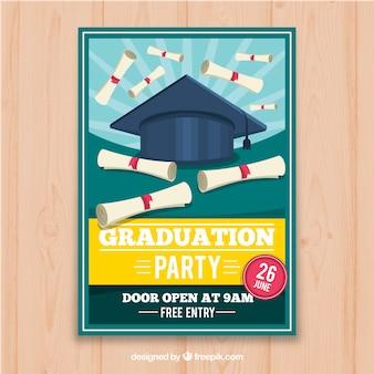 Szablon zaproszenie ukończenia szkoły