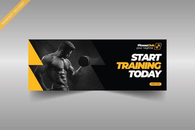 Szablon zdjęcia na okładce fitness na facebooku
