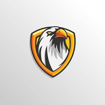 Szablon zespołu logo esport eagle