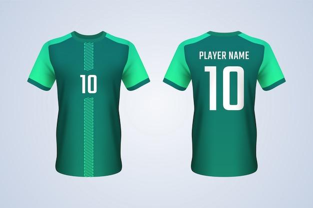 Szablon zielona koszulka piłkarska