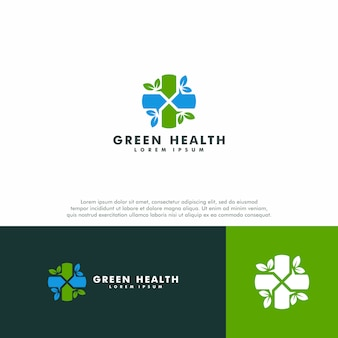 Szablon zielonego logo medycznego