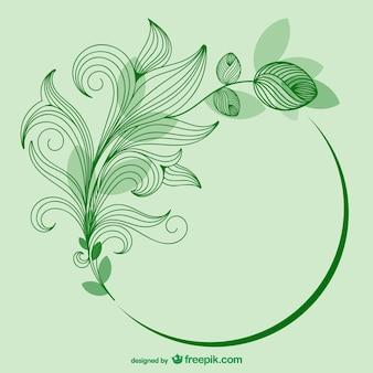 Szablon zielony kwiat wektora