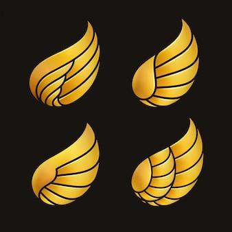Szablon złote skrzydła