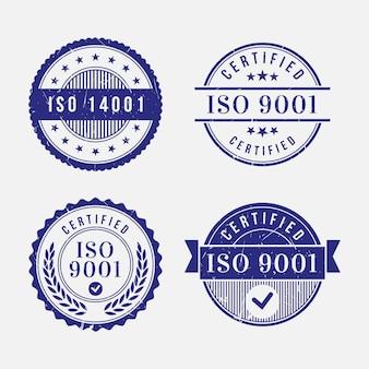 Szablon znaczków certyfikacji iso