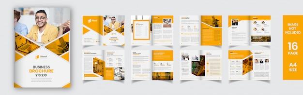 Szablon żółty nowoczesny broszura