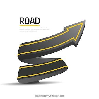 Szablonu tła drogowego