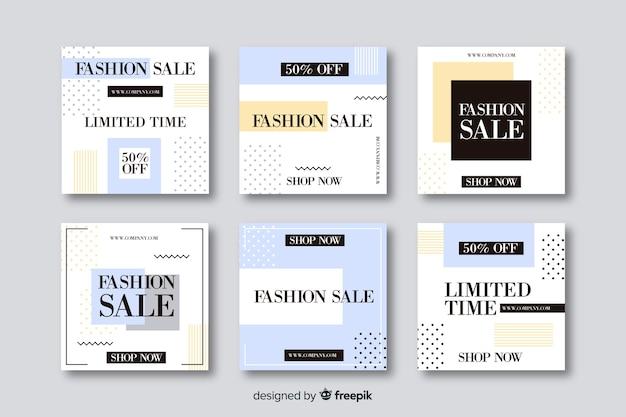 Szablony banerów sprzedaży dla mediów społecznościowych