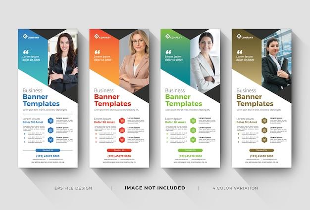 Szablony banerów zwijanych biznesowych