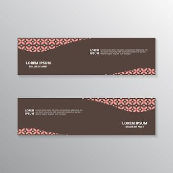 Szablony banner batik