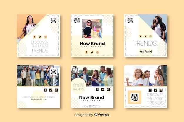 Szablony banner mody dla mediów społecznościowych