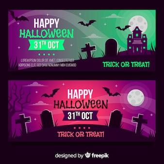 Szablony bannerów halloween
