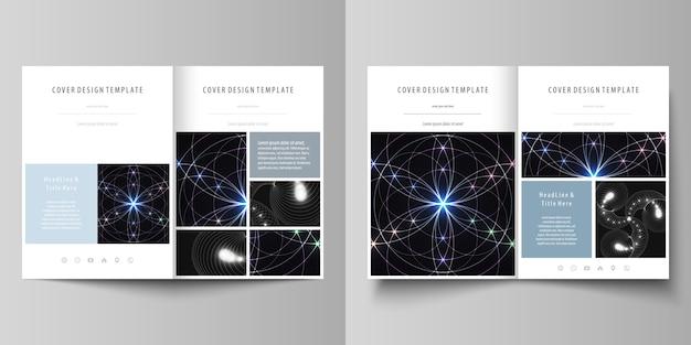 Szablony biznesowe dla bi-krotnie broszury