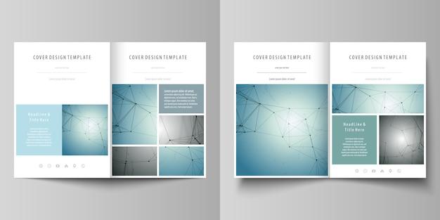 Szablony biznesowe dla broszury bi złożonej