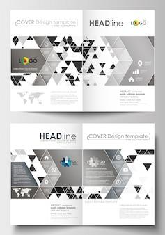 Szablony biznesowe dla broszury, czasopisma, ulotki, broszury, raport. szablon okładki