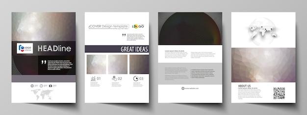 Szablony biznesowe dla broszury, czasopisma, ulotki, broszury, raport.