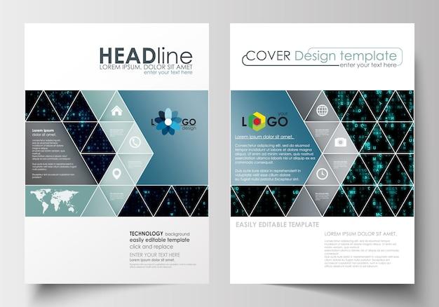Szablony biznesowe dla broszury, czasopisma, ulotki.